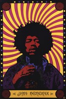Jimi Hendrix - Psychodelic Wall Poster