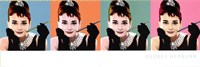 Audrey Hepburn Pop Art Wall Poster