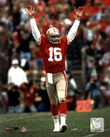 Joe Montana - celebrating touchdown Fine-Art Print
