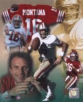 Joe Montana - Legends of the Game Composite Fine-Art Print