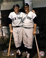 Mickey Mantle and Roger Maris- Palm Trees Fine-Art Print