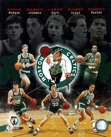 Boston Celtics Big Five Legends Composite Fine-Art Print