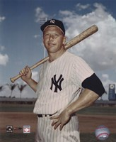 Mickey Mantle - #6 Posed with Bat Fine-Art Print