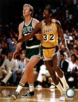 Larry Bird and Magic Johnson Fine-Art Print