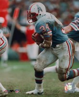 Earl Campbell - Running with ball Fine-Art Print