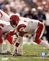 Anthony Munoz - In three point stance Fine-Art Print