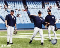 Jason Giambi / Jorge Posada / Derek Jeter - Game Preparation Fine-Art Print