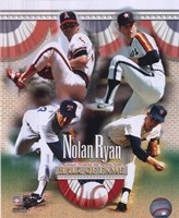 Nolan Ryan - 4 Team Career H.O.F. Composite Fine-Art Print