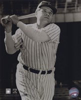 Babe Ruth -Bat over shoulder, posed sepia Fine-Art Print