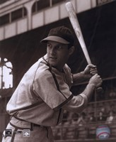 Stan Musial -Batting stance, posed sepia Fine-Art Print