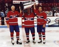 Jean Beliveau / Henri Richard / Guy Lafleur - Holding Stanley Cup Fine-Art Print