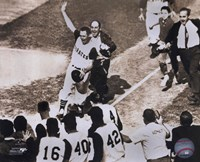Bill Mazeroski - 1960 World Series Winning Home Run, sepia Fine-Art Print