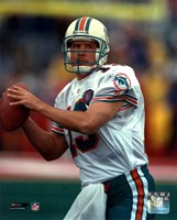 Dan Marino - Close up, action Fine-Art Print