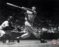 Ted Williams - Batting (sepia) Fine-Art Print