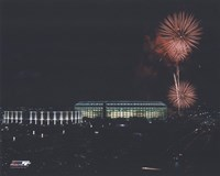 Veterans Stadium - Nightshot, with fireworks Fine-Art Print