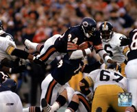 Walter Payton - Action, airbound Fine-Art Print