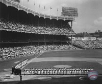 Yankee Stadium Left Field - 1955 World Series Opening Game Fine-Art Print