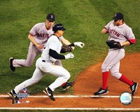 Alex Rodriguez being tagged out by Bronson Arroyo in game 6 of the '04 ALCS Fine-Art Print