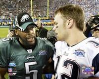 Tom Brady & Donovan McNabb - Super Bowl XXXIX - talk after game Fine-Art Print