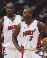 Shaquille O'Neal / Dwyane Wade - Heat - Group Shot Fine-Art Print