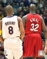 Shaquille O'neal - Kobe Bryant - Heat / Lakers Fine-Art Print