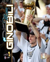 Manu Ginobili 2005 - NBA Championship With Trophy Composite (#12) Fine-Art Print