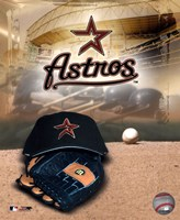 Houston Astros - '05 Logo / Cap and Glove Fine-Art Print