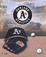 Oakland Athletics - '05 Logo / Cap and Glove Fine-Art Print