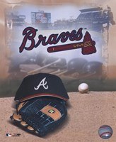 Atlanta Braves - '05 Logo / Cap and Glove Fine-Art Print