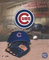 Chicago Cubs - '05 Logo / Cap and Glove Fine-Art Print