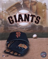 San Francisco Giants - '05 Logo / Cap and Glove Fine-Art Print