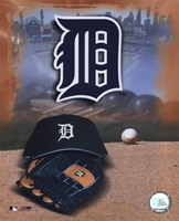 Detroit Tigers - '05 Logo / Cap and Glove Fine-Art Print