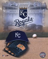 Kansas City Royals - '05 Logo / Cap and Glove Fine-Art Print