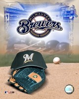 Milwaukee Brewers - '05 Logo / Cap and Glove Fine-Art Print