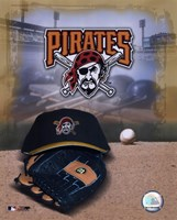 Pittsburgh Pirates - '05 Logo / Cap and Glove Fine-Art Print