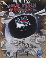 New York Rangers 2005 - Logo / Puck Fine-Art Print
