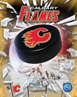 Calgary Flames 2005 - Logo / Puck Fine-Art Print