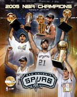 "'04 - '05 Spurs NBA Champions / Composite ""PF GOLD"" (Limited Edition) Fine-Art Print"