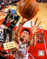 Yao Ming - 2005 Scrapbook Fine-Art Print