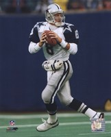 Troy Aikman - Dropping Back Fine-Art Print