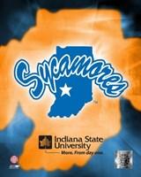Indiana State University Logo Fine-Art Print