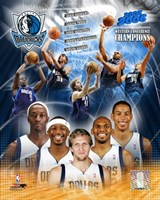'05 / '06 Mavericks Western Conference Champions Composite Fine-Art Print