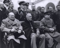 Winston Churchill, Franklin D. Roosevelt and Joseph Stalin at Yalta in 1945. (#6) Fine-Art Print