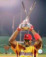 Ryan Howard - 2006 Home Run Derby / With Trophy Fine-Art Print
