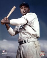 Jackie Robinson - 1953 Posed Batting Fine-Art Print