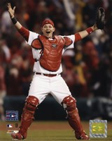 Yadier Molina - Celebrates Winning 2006 World Series Fine-Art Print