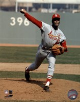 Bob Gibson - Pitching Action Cardinals Fine-Art Print