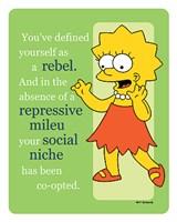 Simpsons - Lisa Rebel (postercard) Wall Poster