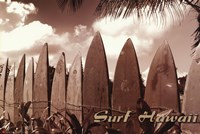Surf Hawaii Wall Poster