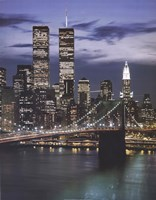 Wtc With Brooklyn Bridge Fine-Art Print